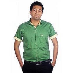 Aaduki Men's Casual Green Shirt-38