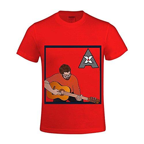 Alphxbet Ax Men Crew Neck Men Slim Fit T Shirt Red