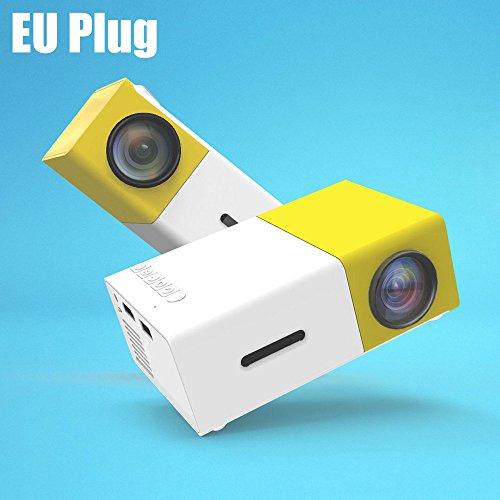 YG-300 LCD Projector – EU PLUG YELLOW