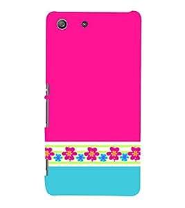 Classic Pink Color Design 3D Hard Polycarbonate Designer Back Case Cover for Sony Xperia M5 Dual E5633 E5643 E5663 :: Sony Xperia M5 E5603 E5606 E5653