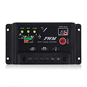Sun YOBA Upgrade version PWM 10A 15A 20A 30A Solar Charge Controller Regulator 12V 24V auto switch by Sun YOBA