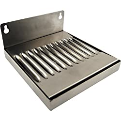 "6"" Wall Mount Drip Tray - Stainless Steel - No Drain: 4"" x 6"""