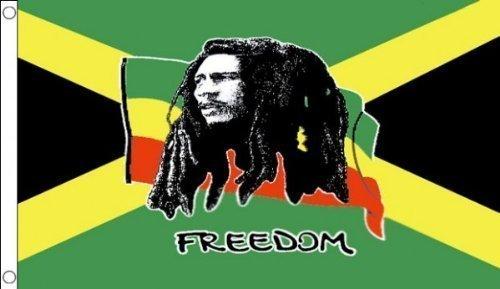 5 ft x 3 ft 150 x 90 cm bob marley freedom jamaica for Fliegen lebensdauer