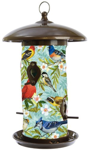 Toland Home Garden 202042 Bird Collage Hanging Art Bird Feeder, 14-Inch