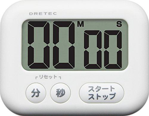 ドリテック(dretec) 大画面タイマー 【シャボン 】 ホワイト T-541 WT