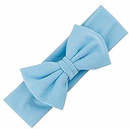 Xmas Gift Wensltd 1pc Baby Infant Soft Mesh Bowknot Hairband Headband (Blue)