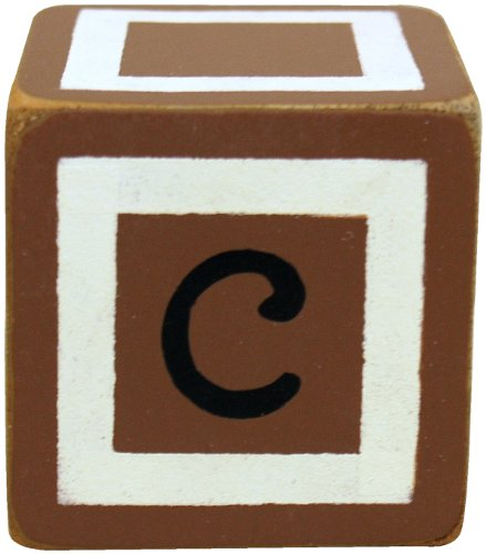 New Arrivals Letter Block C, Chocolate/White