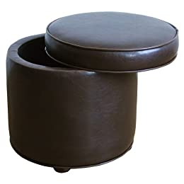 Product Image Faux Leather Storage Ottoman