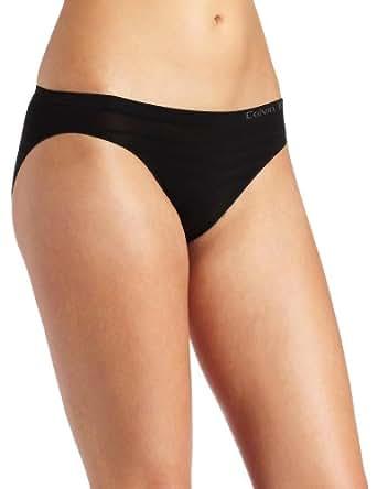 Calvin Klein Women's Seamless Ombre Bikini Panty, Black, Small