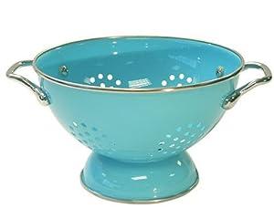 Calypso Basics 1.5 Quart powder coated Colander, Turquoise by Reston Lloyd