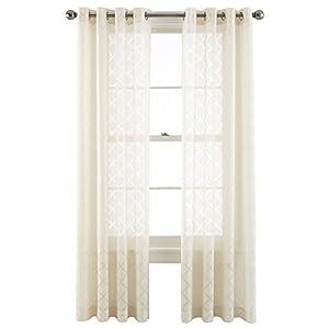 Royal Velvet Adair Sheer Grommet Top Curtain Panel A Pair Of 2 Panels 50 X 84