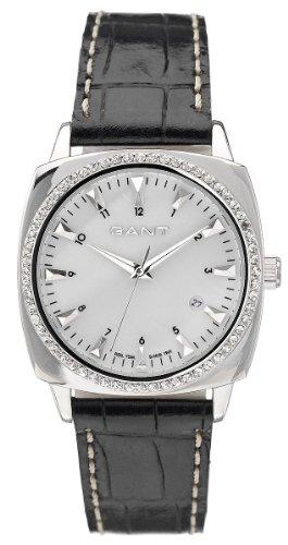GANT Queens W70002 - Reloj de mujer de cuarzo, correa de piel color negro