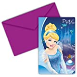 Cinderella Invitations & Envelopes (6Pk)