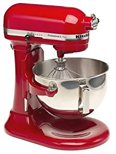 KitchenAid KSM50PER Professional 5 Plus 5-Quart Stand Mixer, Empire Red