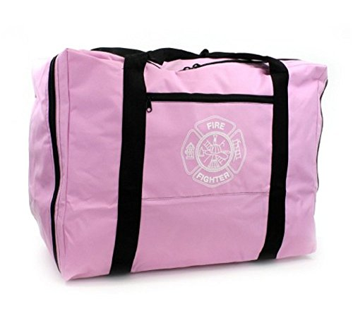 LINE2design Firefighter Turnout Gear Bag Pink with Maltese Cross logo on Front (Ems Turnout Gear compare prices)