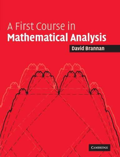 A First Course in Mathematical Analysis Paperback