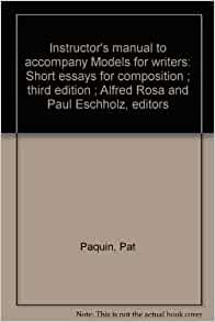 models for writers short essays for composition eleventh edition Book preface models for writers, now in its eleventh edition, continues to offer students and instructors brief, accessible, high-interest models of rhetorical.