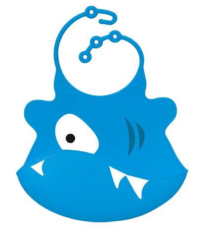 Ulubulu Silicone Bib, Shark - 1