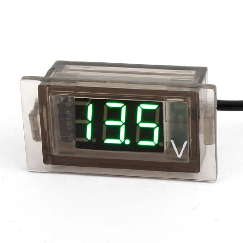 Red 3 Digits Led Display Voltage Test Mini Voltmeter 8-24V