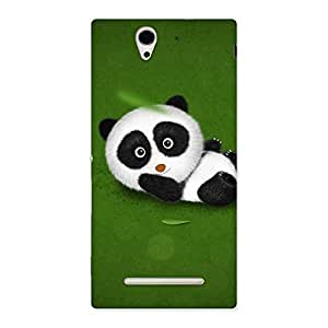 Panda Green Grass Back Case Cover for Sony Xperia C3