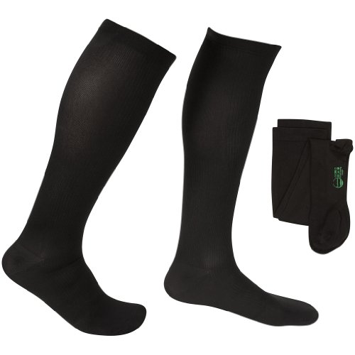 EvoNation Men's USA Made Graduated Compression Socks 20-30 mmHg Firm Pressure Medical Quality Knee High Orthopedic Support Stockings Hose - Best Comfort Fit, Circulation, Travel (XL, Black) (Medical Ted Hose compare prices)
