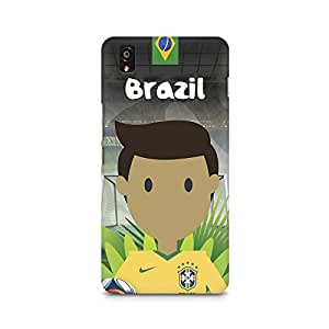 Mobicture Brazil Football Premium Printed Case For OnePlus X