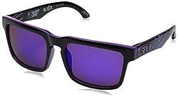 Spy Optic Helm 183015238361 Square Sunglasses, Livery Happy Gray,Green & Purple Spectra, 57 mm
