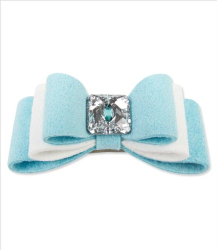 Tiffi's Gift Ultrasuede Dog Hair Bow w/ Swarovski Crystal (Swarovski Crystal Dog Hair Clips compare prices)