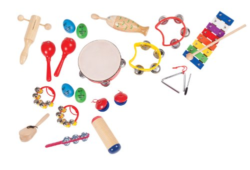 Performance Percussion PK17 - Set di 16 strumenti musicali a percussione per bambini