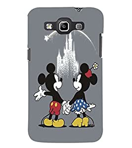 PrintDhaba Mickey and Minnie D-2417 Back Case Cover for SAMSUNG GALAXY WIN i8552 (Multi-Coloured)