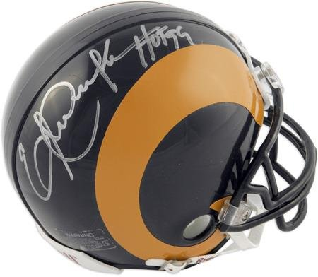 Eric Dickerson Los Angeles Rams Throwback Autographed Riddell Mini Helmet with HOF 99 inscription - Fanatics Authentic Certified