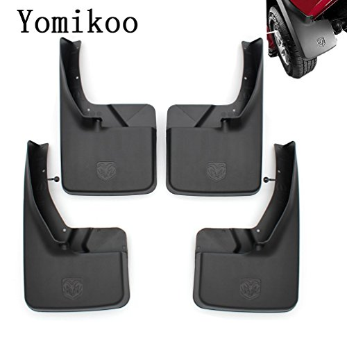Dodge ram mud flaps,Yomikoo Splash Guards Front and Rear Mud Flaps Models Ram Mud Guards OEM Deluxe Molded For 2011-2016 Dodge Ram 1500 2500 3500 Full Set 4pcs (Mud Guards For Dodge Ram 2500 compare prices)
