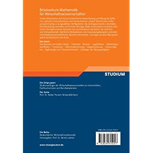 Brückenkurs Mathematik für Wirtschaftswissenschaftler (Studienbücher Wirtschaftsmathematik) (Germ