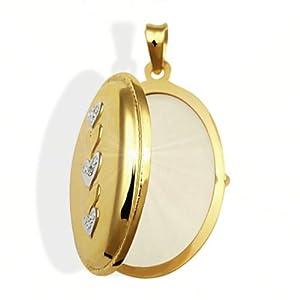 Goldmaid Medallion 333 Gelbgold 1 Diamant 0,005ct Weissgold Herz