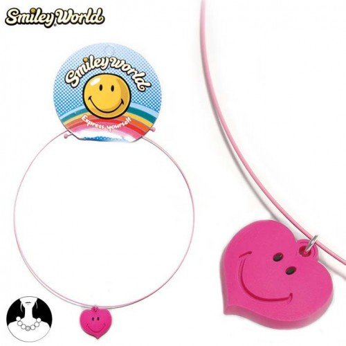 SG Paris Choker Love U Pink Ro Fonc/Fushia/Framb Necklace Choker Z Others Licenses Kid Zother Summer Smiley Heart