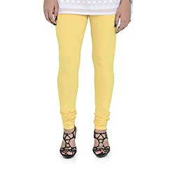 Vami Cotton Churidar Leggings in Popcorn Color _VM1001(41)
