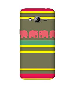 Stripes And Elephant Print (39) Samsung Galaxy J2 Case