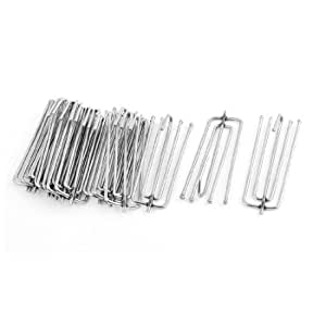 Uxcell a13112900ux0107 Metal Forks Draped Curtain Pleat Prong Hooks, 6.7cm, 15-Piece