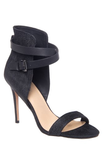 Joe's Jeans Macee Stiletto High Heel Ankle Cuff Sandal