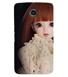 Printvisa Baby Doll Dressed Up In Beige Back Case Cover for Motorola Google Nexus 6