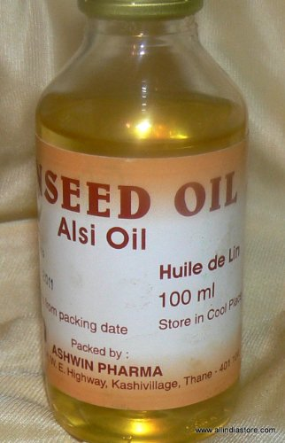 Ashwin Linseed Oil (Alsi Oil) 100 Ml Product Of India