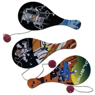 Outer Space Paddle Balls (12 Pack)