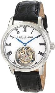 Stuhrling Original Men's 312.33153 Tourbillon Dominous Limited Edition Mechanical Silver Tone Watch