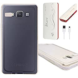 DMG LED Flashing Call Notification TPU Back Cover Case for Samsung Galaxy A7 (White) + 10000 mAh Power Bank