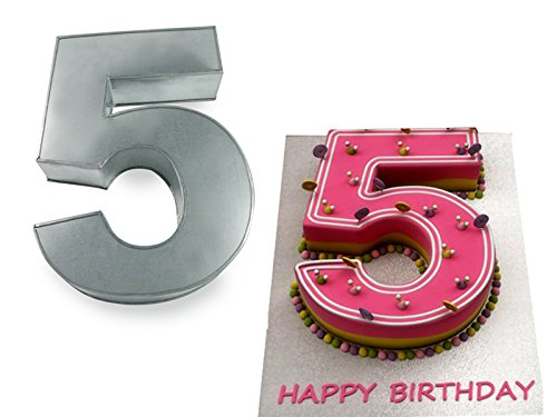 Small Number Five 5 Wedding Birthday Anniversary Cake Baking Pan / Tin 10