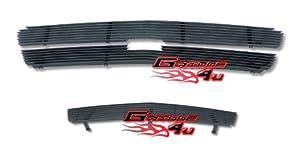 03-05 Chevy Silverado 1500 SS Black Billet Grille Grill Combo insert