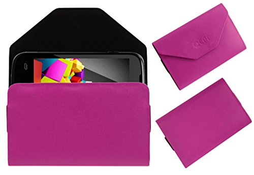 Acm Premium Pouch Case For Micromax Canvas Fun A63 Flip Flap Cover Holder Pink  available at amazon for Rs.179