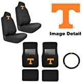 411ZdTT0kpL. SL160  7PC UT University of Tennessee Volunteers Car Truck SUV Front &amp; Rear Seat Carpet Floor Mats w/ Universal Fit Bucket Seat Covers &amp; Steering Wheel Cover Auto Accessories Interior Combo Kit Gift Set