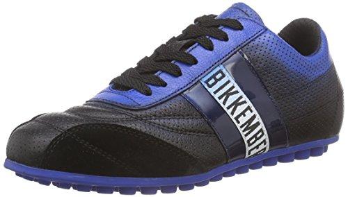 BIKKEMBERGS641024 - Sneaker Unisex - adulto , Nero (Schwarz (Schwarz/Blau)), 46