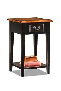 Leick Furniture Leick Shaker Square End Table, Slate Black